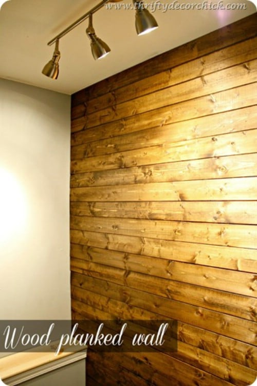 40 rustic home decor ideas you can build yourself diy crafts source thriftydecorchick wood planked wall 40 rustic home decor ideas you can build yourself solutioingenieria