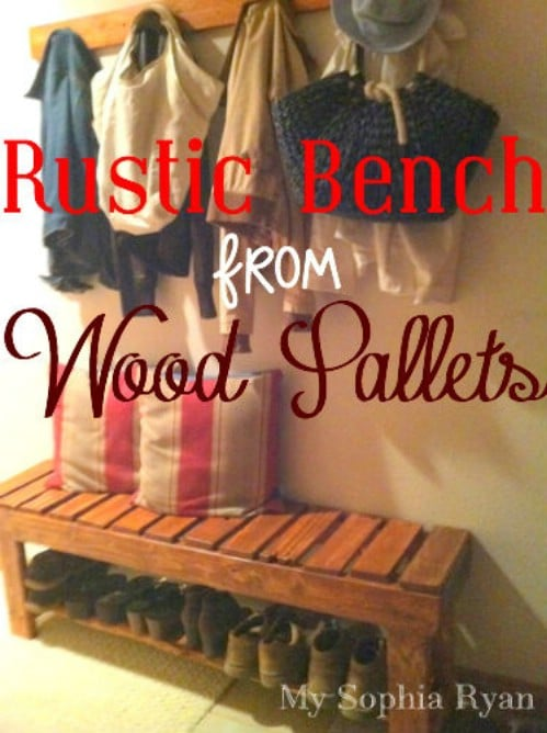 40 rustic home decor ideas you can build yourself diy crafts source mysophiaryan wood pallet bench 40 rustic home decor ideas you can build yourself solutioingenieria Image collections