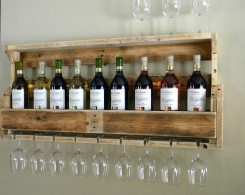 ... Wooden Pallet Wine Rack   40 Rustic Home Decor Ideas You Can Build  Yourself
