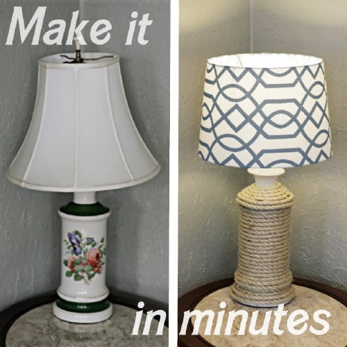 Twine Lamp   40 Rustic Home Decor Ideas You Can Build Yourself