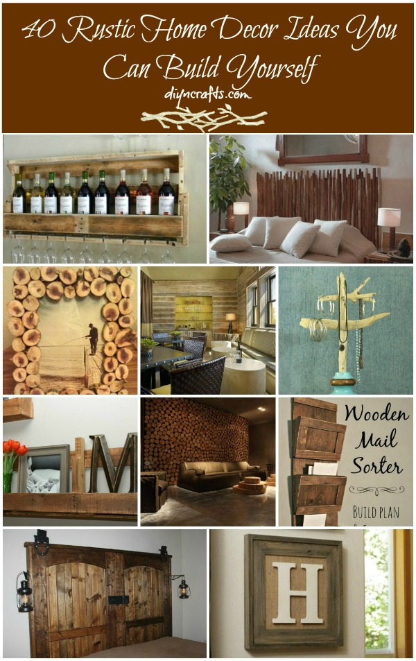 40 rustic home decor ideas you can build yourself diy for Homemade home decoration items