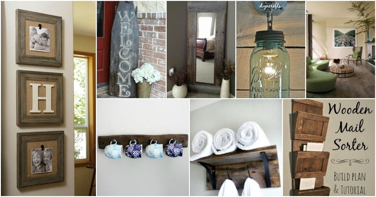 40 rustic home decor ideas you can build yourself diy crafts - Diy Rustic Home Decor Ideas