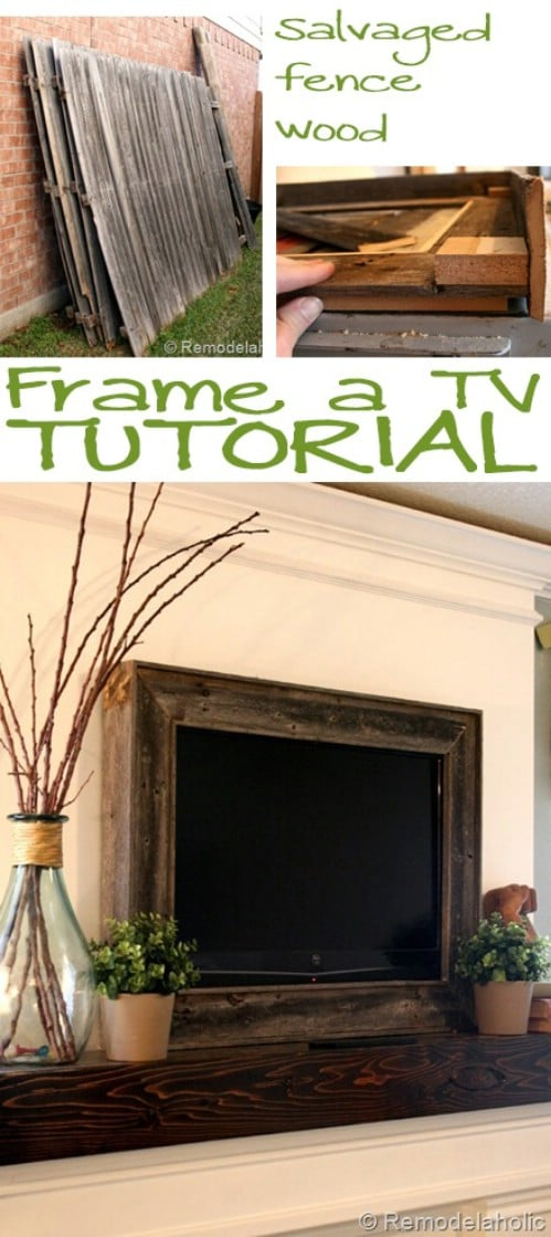 10 Brilliant Ways To Disguise Your Flat Screen Tv Diy Crafts