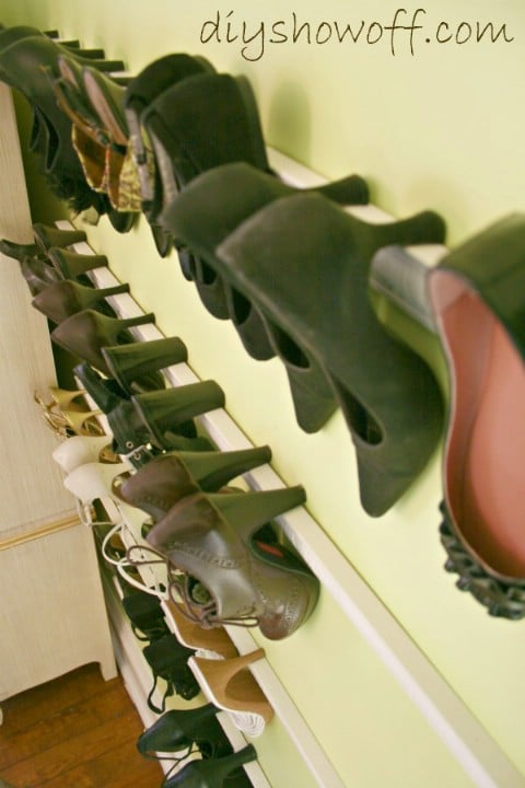 Crown Molding Shoe Holders