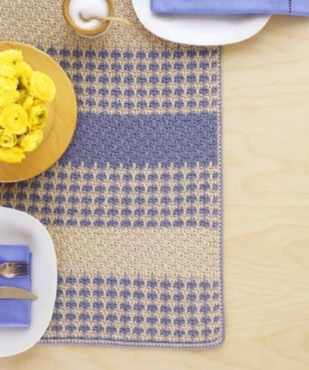 Crocheted Table Runner - 30 Super Easy Knitting and Crochet Patterns for Beginners