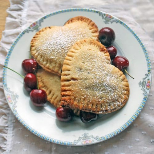 Sweetheart Cherry Pies - 20 Tasty and Romantic Valentine's Day Treats You Will Love