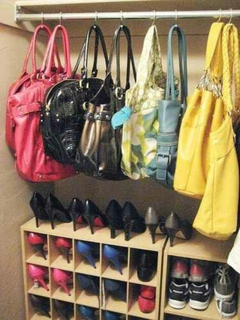 Shower Curtain Hooks for Purses and Totes