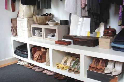 Sideways Bookshelf Storage