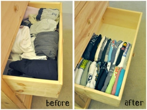 Source Alldaychic T Shirt Drawer Organization