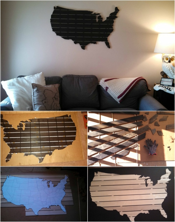 Beautiful DIY Wooden USA Wall Map - DIY & Crafts