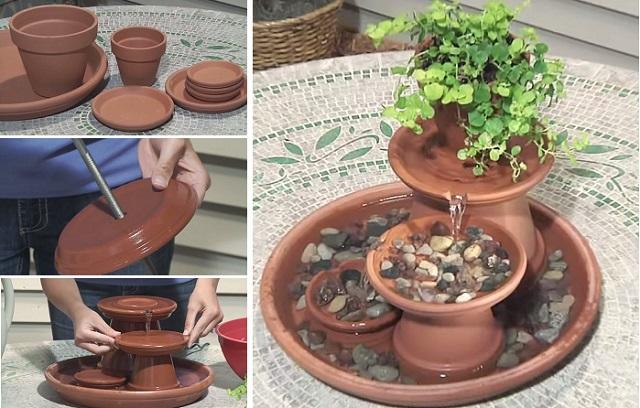 How To Diy This Super Decorative Mini Terracotta Fountain