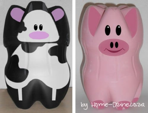 Adorable DIY Piggy Banks From Plastic Bottles