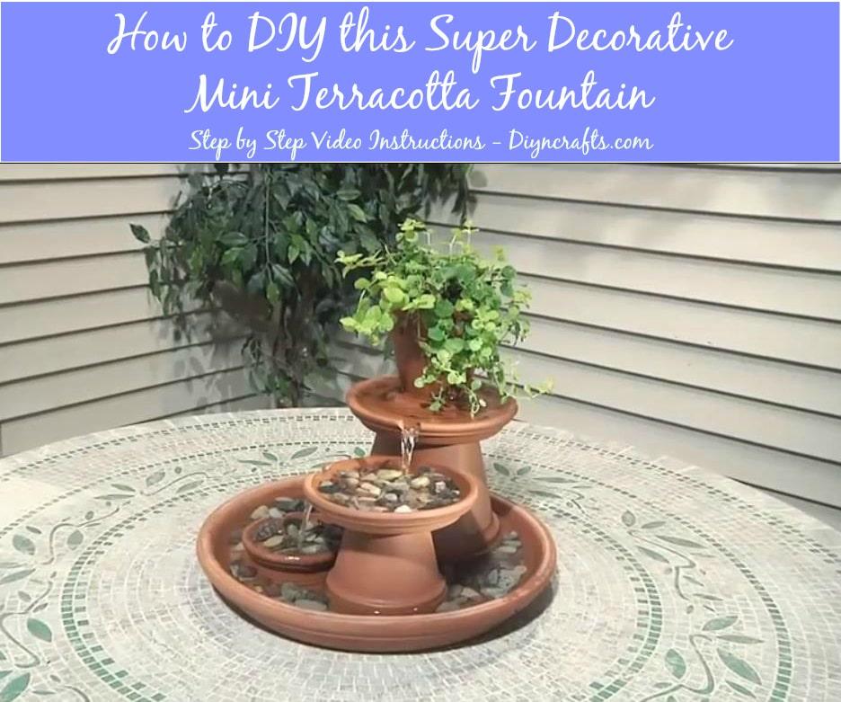 How to DIY this Super Decorative Mini Terracotta Fountain DIY
