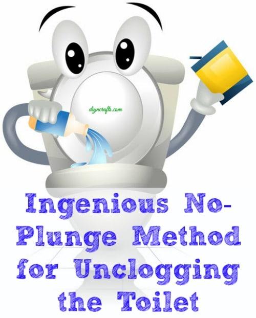 Ingenious No-Plunge Method for Unclogging the Toilet - DIY & Crafts