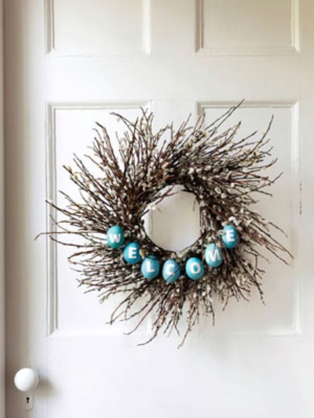 Twig Welcome Wreath - 40 Creative DIY Easter Wreath Ideas to Beautify Your Home