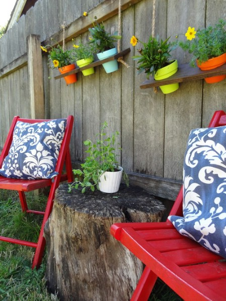 Hang Plant Shelves - 150 Remarkable Projects and Ideas to Improve Your Home's Curb Appeal
