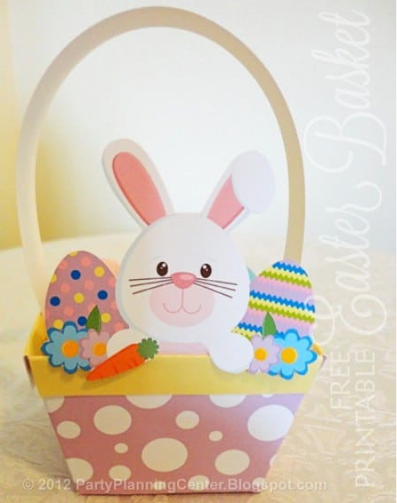 Paper Easter Basket Printables - 40 Crafty Easter Printables for Perfect Holiday Projects