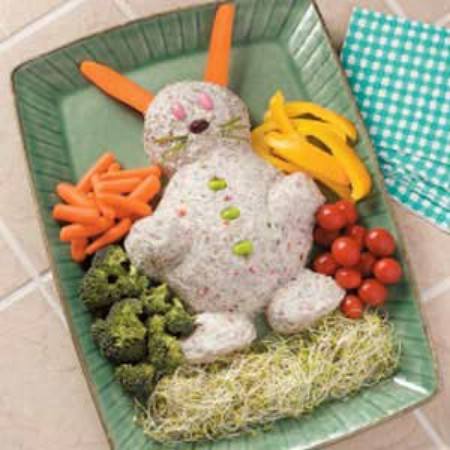 Easter Bunny Cheese Spread - 100 Easy and Delicious Easter Treats and Desserts