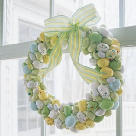 Malted Milk Candy Egg Wreath - 40 Creative DIY Easter Wreath Ideas to Beautify Your Home