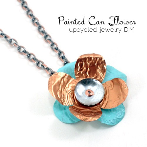 Painted Can Flower Necklace