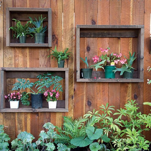 Wooden Fence Planter Boxes - 40 Genius Space-Savvy Small Garden Ideas and Solutions