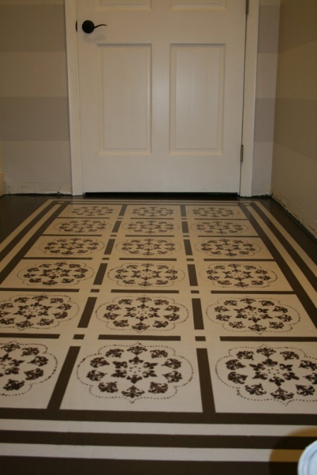Paint Porch Floor To Look Like A Rug - 150 Remarkable Projects and Ideas to Improve Your Home's Curb Appeal