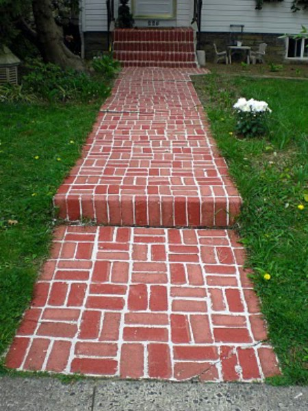 Paint Concrete Steps To Look Like Brick - 150 Remarkable Projects and Ideas to Improve Your Home's Curb Appeal