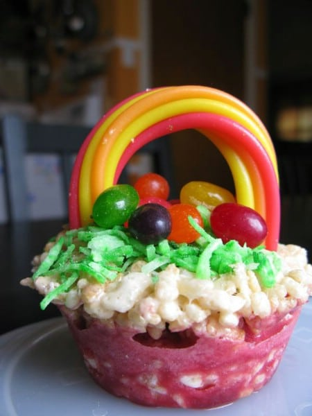 Rice Krispies Easter Baskets - 100 Easy and Delicious Easter Treats and Desserts