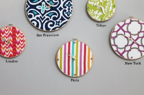 Embroidery Hoop Clock