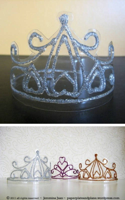 Princess Crowns - 20 Fun and Creative Crafts with Plastic Soda Bottles