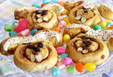 Easter Bunny Cinnamon Rolls - 100 Easy and Delicious Easter Treats and Desserts