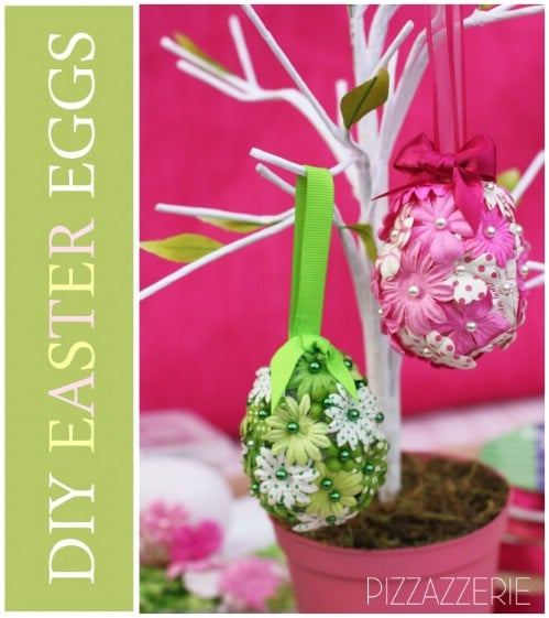 Flower Easter Eggs - 80 Creative and Fun Easter Egg Decorating and Craft Ideas