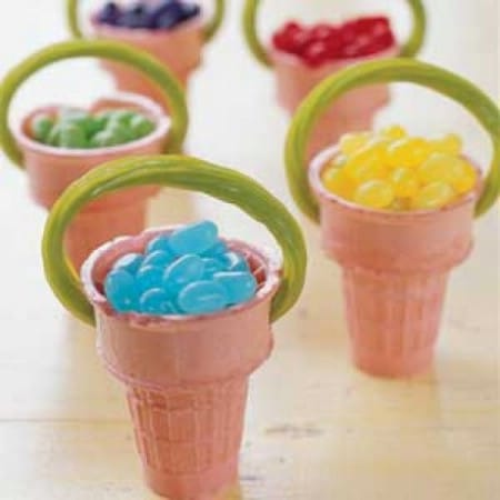 Ice Cream Cone Baskets - 100 Easy and Delicious Easter Treats and Desserts