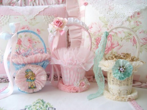 Vintage Victorian Easter Baskets