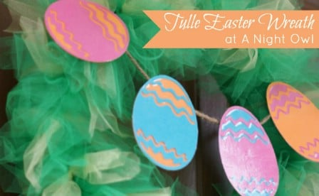 Tulle Easter Wreath - 40 Creative DIY Easter Wreath Ideas to Beautify Your Home
