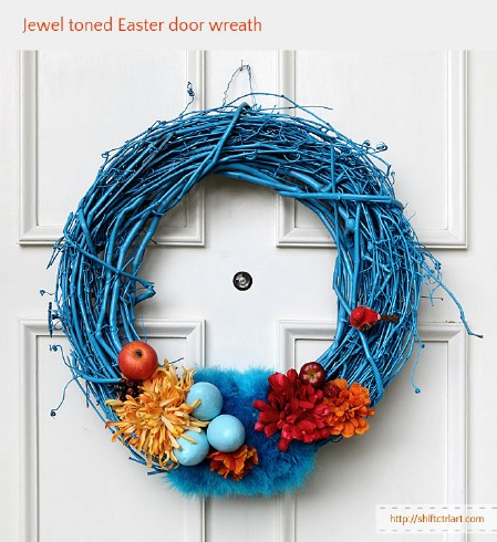 Jewel Toned Wreath - 40 Creative DIY Easter Wreath Ideas to Beautify Your Home
