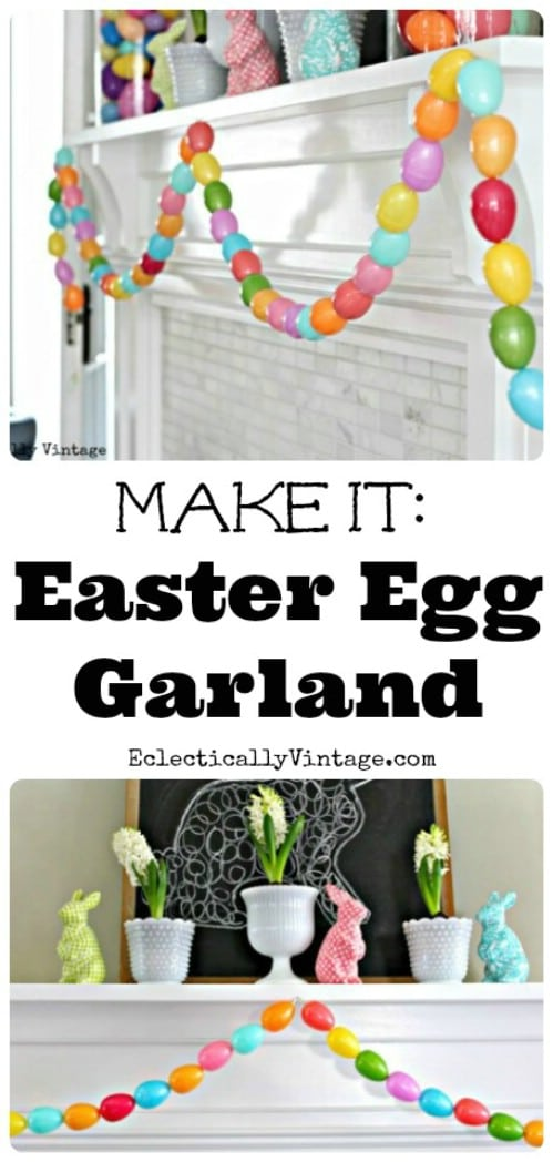 Easter Egg Garland - 80 Fabulous Easter Decorations You Can Make Yourself