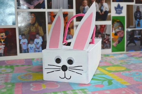 Tissue Box Bunny Easter Baskets
