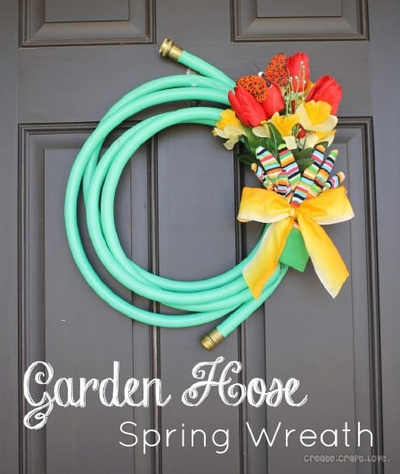 Garden Hose Wreath - 40 Creative DIY Easter Wreath Ideas to Beautify Your Home