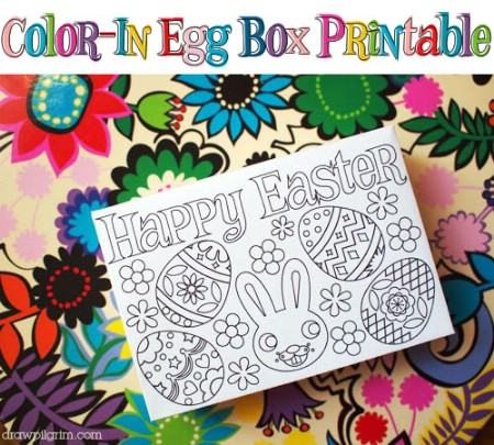 Coloring Box Printable - 40 Crafty Easter Printables for Perfect Holiday Projects