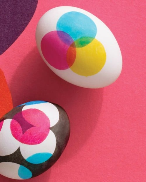 Dot Design Easter Eggs - 80 Creative and Fun Easter Egg Decorating and Craft Ideas