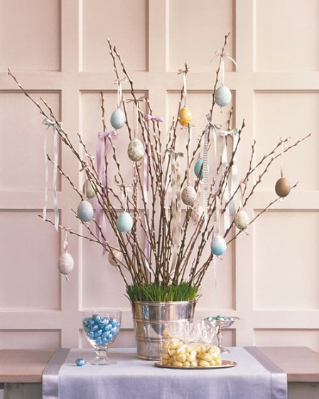 Easter Tree Centerpiece - 40 Beautiful DIY Easter Centerpieces to Dress Up Your Dinner Table