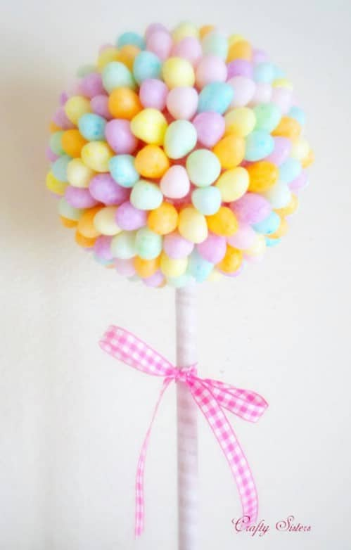 Jelly Bean Topiaries - 80 Fabulous Easter Decorations You Can Make Yourself
