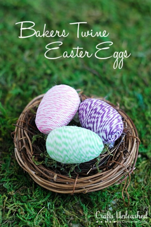 Baker's Twine Easter Eggs - 80 Creative and Fun Easter Egg Decorating and Craft Ideas