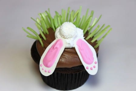 Shy Bunny Cupcakes - 100 Easy and Delicious Easter Treats and Desserts
