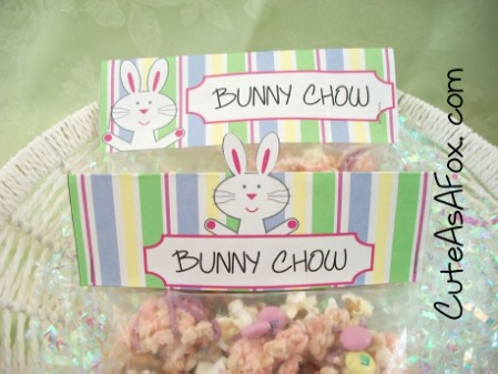 Bunny Chow Printable - 40 Crafty Easter Printables for Perfect Holiday Projects