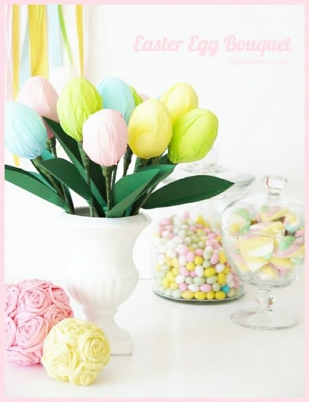 Easter Egg Bouquet - 40 Beautiful DIY Easter Centerpieces to Dress Up Your Dinner Table
