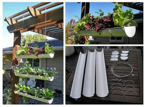 instructions goodshomedesign hanging gutter garden 40 genius space savvy small garden ideas and solutions