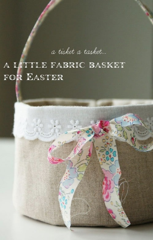 Homemade Fabric Easter Basket - 80 Fabulous Easter Decorations You Can Make Yourself