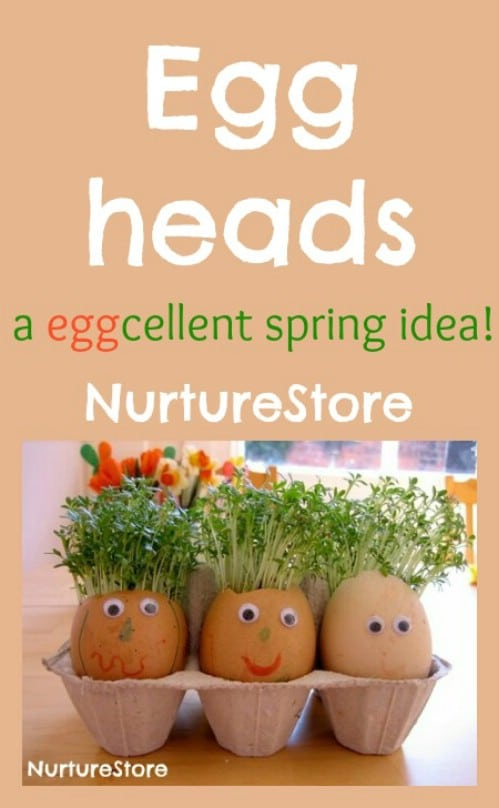 Eggheads with Cress for Hair - 80 Fabulous Easter Decorations You Can Make Yourself